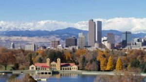 Photo of downtown Denver skyline